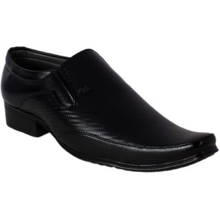 Shoeadda Mens Black Slip on Formal Shoes