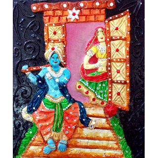 Lord Krishna with a flute - Mural