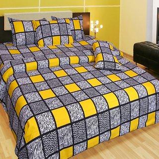 Akash Ganga Cotton Double Bedsheet with 2 Pillow Covers (KM555)