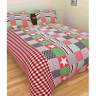 Fresh From Loom Dapper Cotton Single Bed Sheet With Pillow Cover