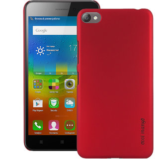 Lenovo S60 Back Cover / Case - Cool Mango Premium Rubberized Back Cover for Lenovo S60 - Red