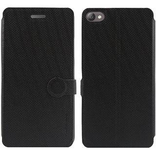 Lenovo S60 Flip Cover / Case - Cool Mango iMaterial Leather Flip Cover / Case for Lenovo S60 - Royal Black