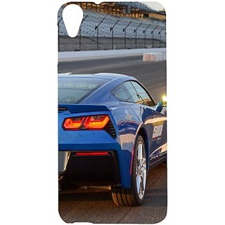 Casotec Car on Racing Track Design Hard Back Case Cover for HTC Desire 820