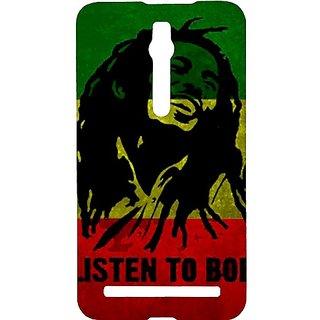 Casotec Bob Marley Flag Smile Design Hard Back Case Cover for Asus Zenfone 2