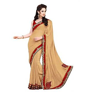 Triveni Multicolor Chiffon Embroidered Saree With Blouse