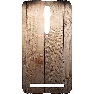 Casotec Wooden Texture Design Hard Back Case Cover for Asus Zenfone 2