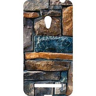 Casotec Decorative Stone Cladding Design Hard Back Case Cover for Asus Zenfone 5 A500CG