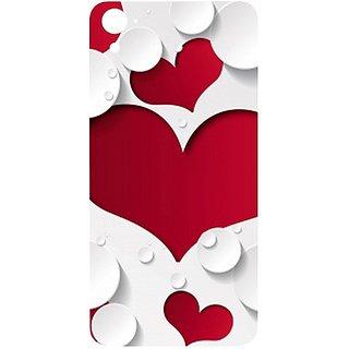 Casotec Multiple Hearts Design Hard Back Case Cover for HTC Desire 826