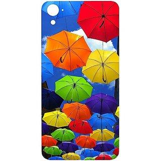 Casotec Colorful Umbrellas Design Hard Back Case Cover for HTC Desire 826