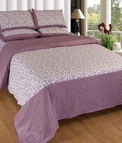 Akash Ganga Cotton Double Bedsheet with 2 Pillow Covers (KM616)