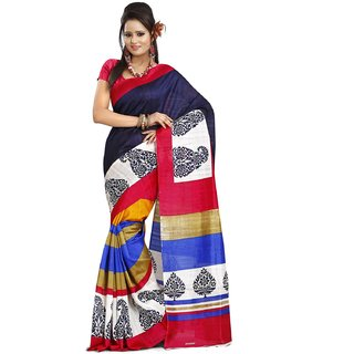 K D Collection Printed Bhagalpuri Silk Saree