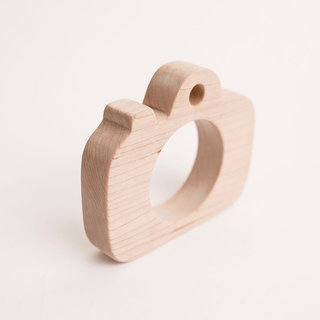 Wooden Camera- Teether/Toy- All Natural- Wood Toy