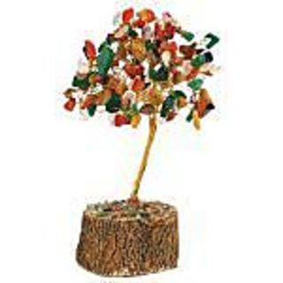Nidhi Multi Colour Gem Tree Feng Shui Good Luck