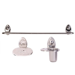 Zahab Icon Stainless Steel Bathroom Set of 3