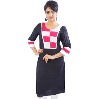 Shop Rajasthan Multicolor Plain Cotton Stitched Kurti