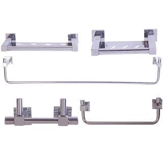 Zahab Micra Stainless Steel Bathroom Set of 5