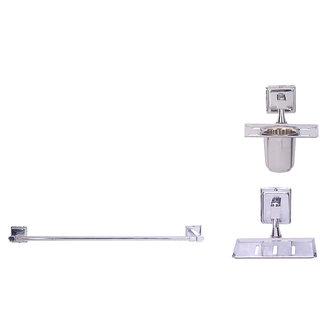 Zahab Plenet-9 Stainless Steel Bathroom Set of 3