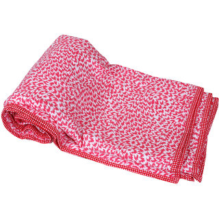 IndiWeaves CottonDohar/Ac Blanket  set for  Double Bed  (1 piece)-Red