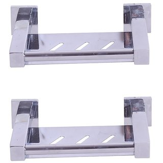 Zahab Micra Stainless Steel Soap Dish set of 2