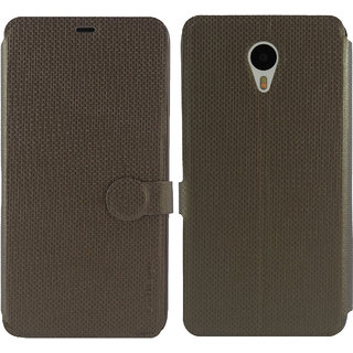 Meizu m1 note Flip Cover / Case - Cool Mango iMaterial Leather Flip Cover / Case for Meizu m1 note - Bronze