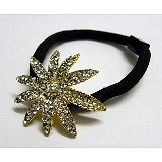 Indian Designer Exclusive Hair Band With Stone Ftd Golden (Option 2)