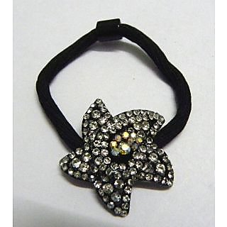 Indian Designer Exclusive Hair Band With Stone Ftd Black (Option 1)