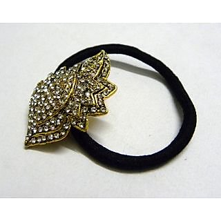 Indian Designer Exclusive Hair Band With Stone Ftd Golden (Option 3)
