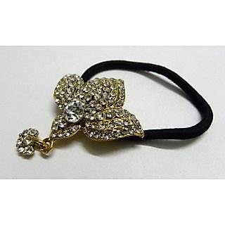 Indian Designer Exclusive Hair Band With Stone Ftd Black (Option 2)
