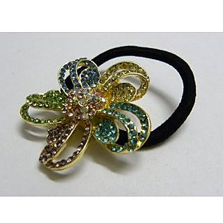 Indian Designer Exclusive Hair Band With Stone Ftd Golden (Option 6)