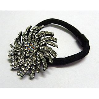 Indian Designer Exclusive Hair Band With Stone Ftd Multi-Colour (Option 2)