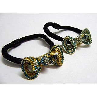 Indian Designer Exclusive Hair Band With Stone Ftd Golden (Option 9)
