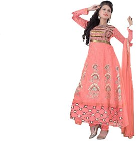 Florence Pink Madhubala Georgette Embroidered Suit (SB-2481) (Unstitched)
