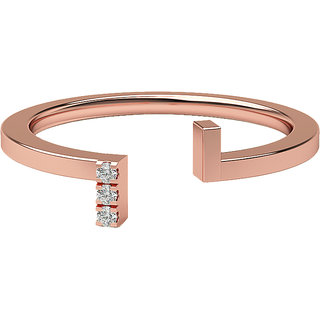 Real Diamonds And Hallmarked 14Kt Rose Gold Ring La-15_Rose_Gold_14Kt