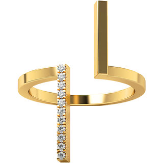 Real Diamonds And Hallmarked 14Kt Yellow Gold Ring La 16_Yellow_Gold_14Kt
