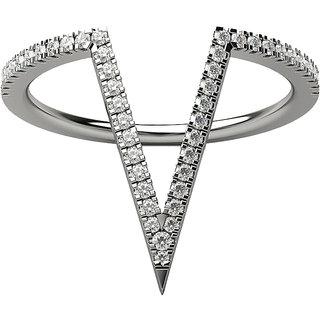 Real Diamonds   Hallmarked 14Kt White Gold Ring La 18_White_Gold_14Kt