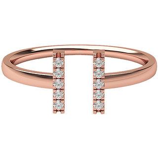 Real Diamonds & Hallmarked 14Kt Rose Gold Ring La-23_Rose_Gold_14Kt