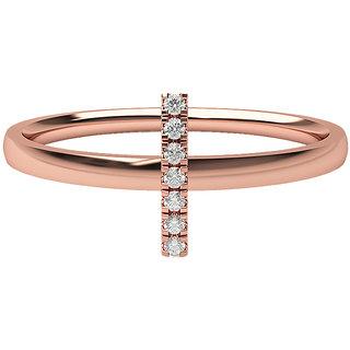 Real Diamonds   Hallmarked 14Kt Rose Gold Ring La 24_Rose_Gold_14Kt