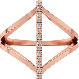 Real Diamonds   Hallmarked 14Kt Rose Gold Ring La 27_Rose_Gold_14Kt