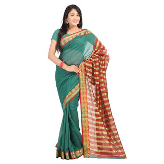 Aaina Printed Fashion Tissue Sari (FL-10336)