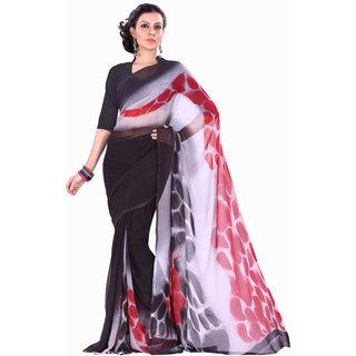 Aaina Black Party Wear Georgette Printed Fashion Saree (FL-10077)