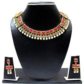 Zaveri Pearls Kundan Necklace Set For Women - Zpfk1322