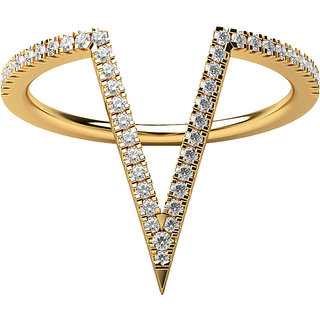 Real Diamonds and Hallmarked 18kt  Yellow Gold Ring LA-18YELLOWGOLD18KT