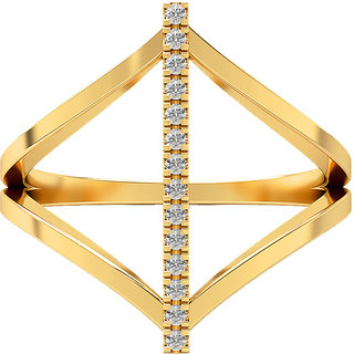 Real Diamonds   Hallmarked 14Kt  Yellow Gold Ring La 27_Yellow_Gold_14Kt