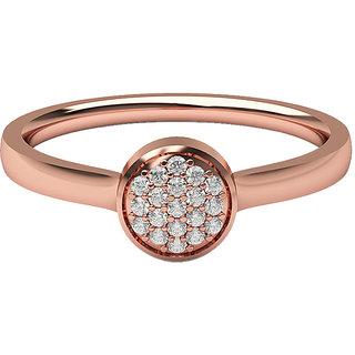 Real Diamonds & Hallmarked 14Kt Rose Gold Ring La-28_Rose_Gold_14Kt