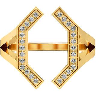 Real Diamonds & Hallmarked 14Kt  Yellow Gold Ring La-29_Yellow_Gold_14Kt