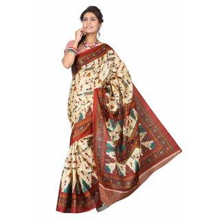 Aaina Multi Printed Bhagalpuri Silk Saree (FL-5034-D)