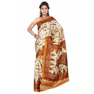 Aaina Multi Printed Bhagalpuri Silk Saree (FL-5034-A)