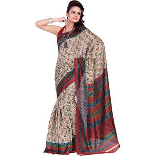 Aaina Multi Printed Bhagalpuri Silk Saree (FL-1294-A)