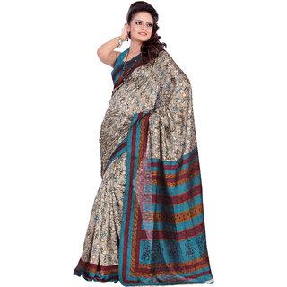 Aaina Multi Printed Bhagalpuri Silk Saree (FL-1294-B)