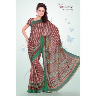 Aaina Multi Printed Linen Saree (FL-1292-C)